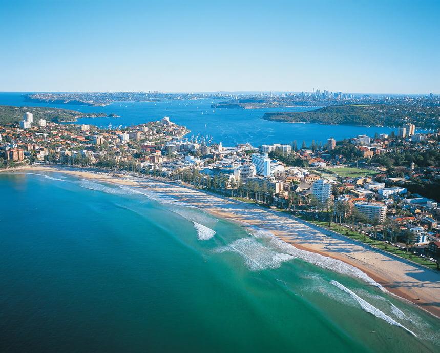 Manly Beach aerial beach view