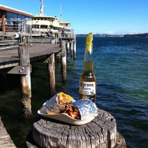 Dining al fresco at Manly Cove