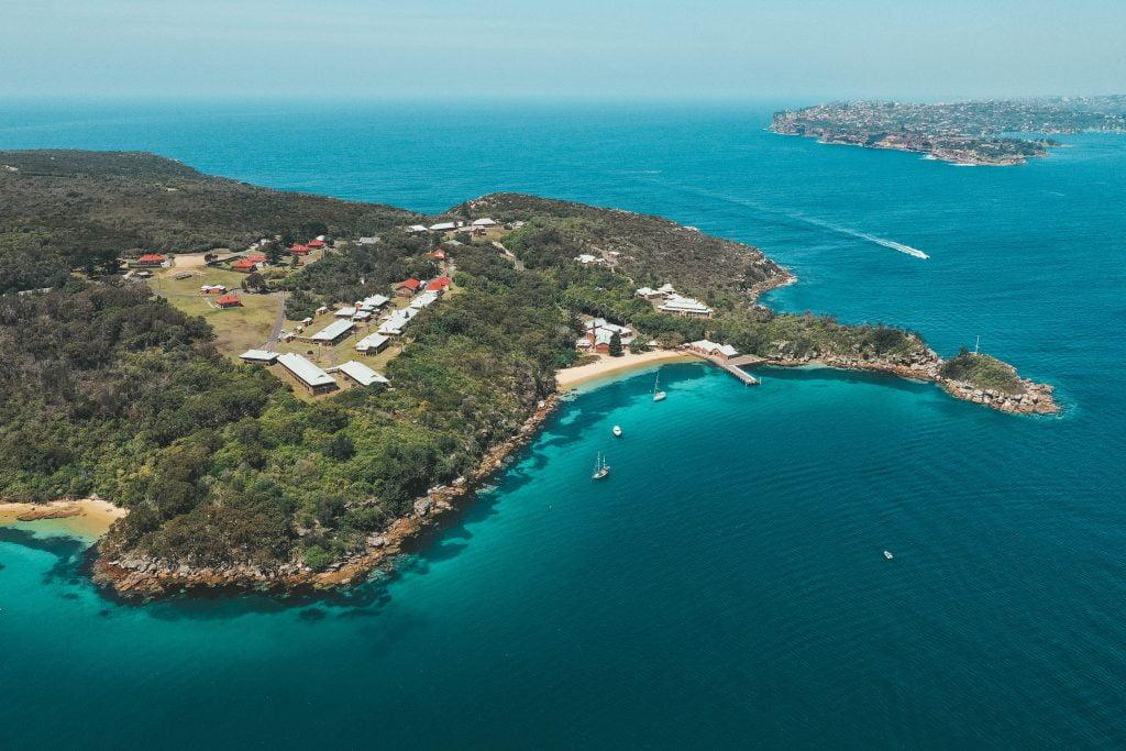 Beautiful Beach in Sydney Harbour