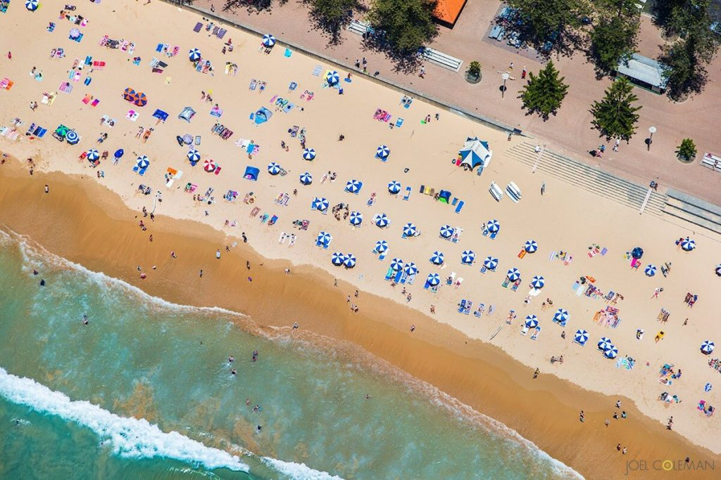Manly Beach Arial View Credit: saltmotion_