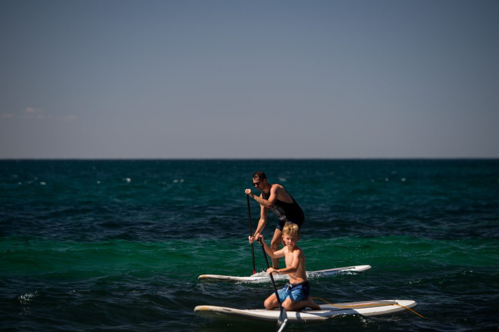 Stand up paddle boarding on Northern Beaches