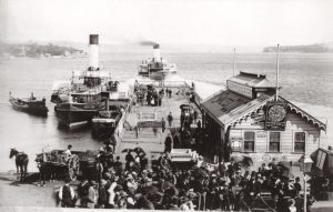 The Fairlight at Manly Wharf in 1887-88