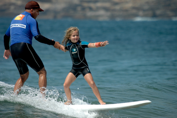 Surfing on the Northern Beaches