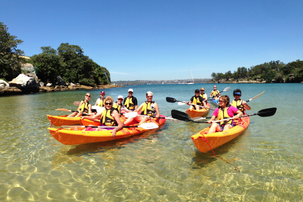 Kayaking on the Northern Beaches